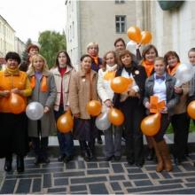 Participants in a national open access campaign, 'OA in Moldova', in October 2013.
