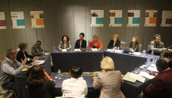 Photo of librarians at workshop at the EIFL General Assembly.