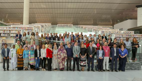 Group photo of participants in the 2018 EIFL General Assembly, which was hosted by Qatar National Library  in Doha.