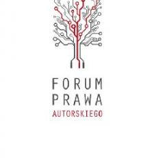 Image of a tree with roots and branches, some in red and text in Polish Copyright Forum.