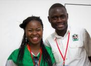 Two trainees - Given Mwenda Besa, manager at Ngwerere Lubuto Library in Lusaka, and Allan Hagwelele Mudenda, from the Provincial Education Office, which manages libraries in Zambia's Southern Province.