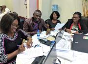 Zambian public librarians at a workshop in Lusaka.