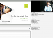 Screengrab of TU Darmstadt webinar presentation