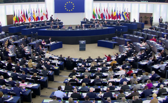 Members of the European Parliament gather in Strasbourg on 26 March 2019 to adopt a Directive on copyright in the Digital Single Market.